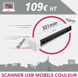 Scanner USB mobile couleur