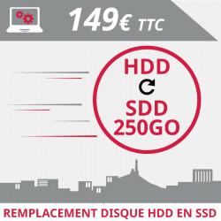 Remplacement de votre disque dur HDD par un disque SSD